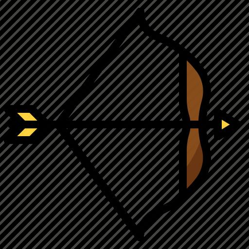 aim, archery, arrow, bow, hobby, shooting icon