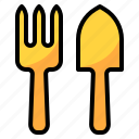 fork, gardening, hobby, spoon, trowel icon