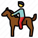 hobby, horse, pet, riding, sport icon