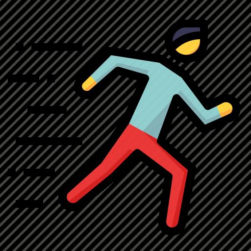 hobby, human, run, running, sport icon
