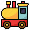 hobby, kids, toy, train, wood icon