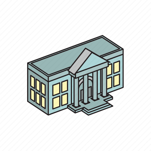 bank, banking, building, estate, finance, financial, money icon