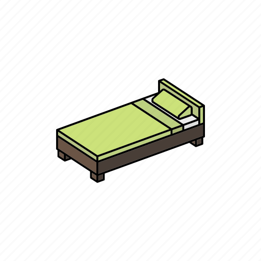 bed, furniture, home, interior, property, signle, sleep icon