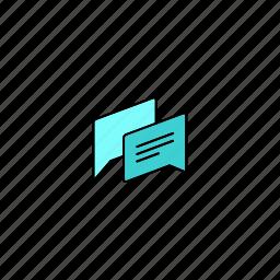chat, conversation, dialog, dialogue icon