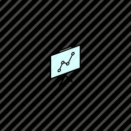 flipchart, keynote, office, presentation icon