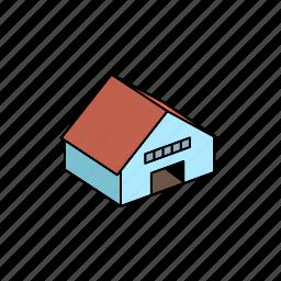 building, hangar, storage icon
