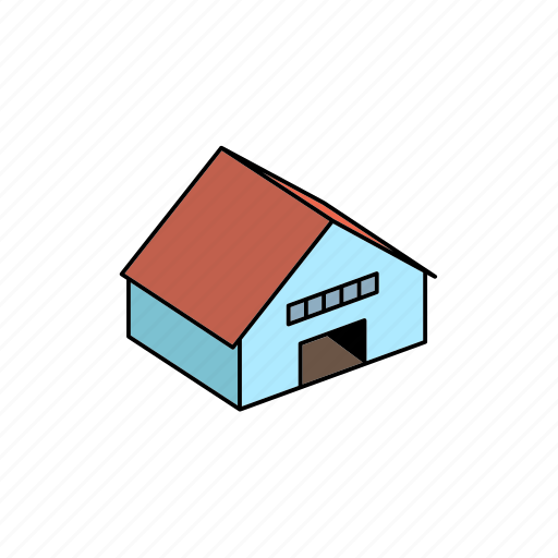 building, hangar, storage icon