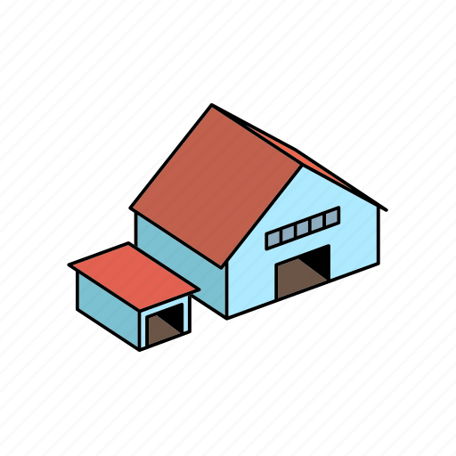 and, building, depot, hangar, storage icon