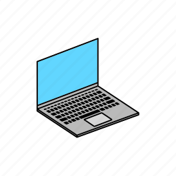 computer, device, display, hardware, laptop, notebook pc, pc icon