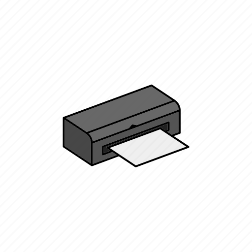 data, device, document, office, print, printer, sheet icon