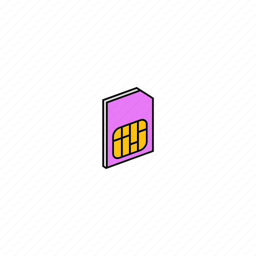 card, gsm, sim icon