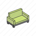 apartment, furniture, home, interior, property, sofa icon