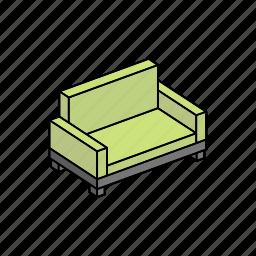 apartment, furniture, home, interior, property, sofa icon