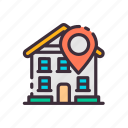 building, find, home, house, location, mark, real estate