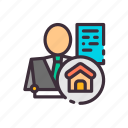 color, for, house, realtor, sale, shows, the icon