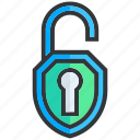 lock, open, protection, safe, safety, secure