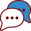 bubble, chat, conversation, message icon