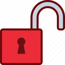 lock, open, safety, security, uplock icon