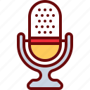 microphone, record, sing, sound icon