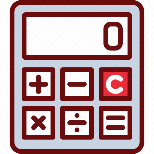 calculator, finance, math, summ icon