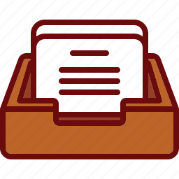 box, document, inbox, income, mail, office icon