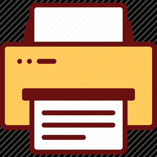 document, office, paper, print, printer icon