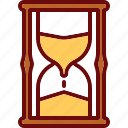glass, hourglass, time, timer icon