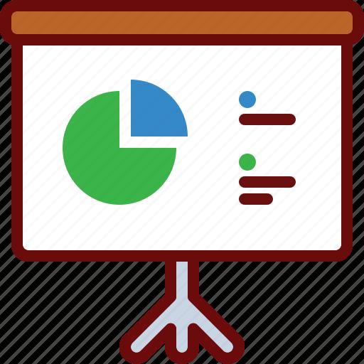 board, business, chart, finance, presentation icon