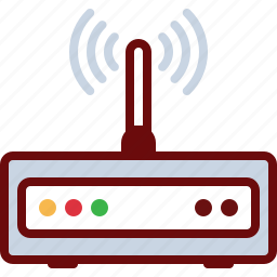 connection, device, internet, router, wave, wifi icon