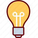 bulb, idea, lamp, light