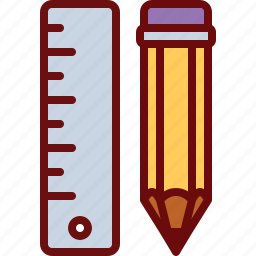 design, draw, geometry, pencil, ruler icon