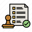 stamp, file, certified, approved icon