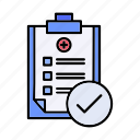 discharge, patient, reports icon