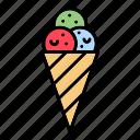 cone, ice, cream icon