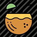 coconut, drink, juice