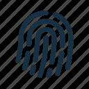 biometric, finger, fingerprint, password, protection, secure, security icon