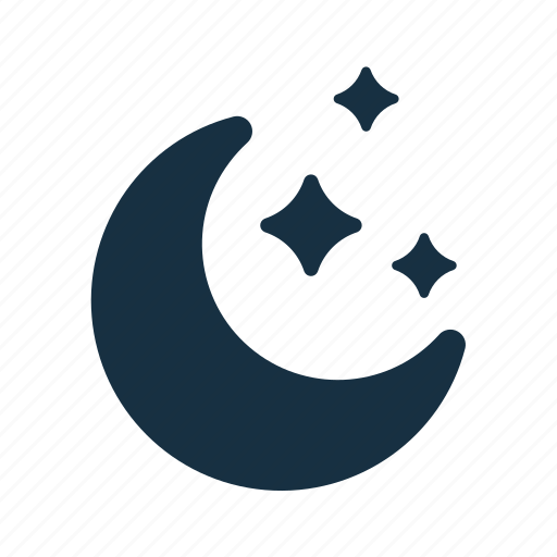 astronomy, crescent, moon, science, sky, space, stars icon