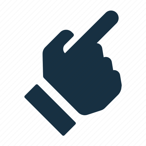 direction, gesture, hand, interaction, pointing, right, top icon