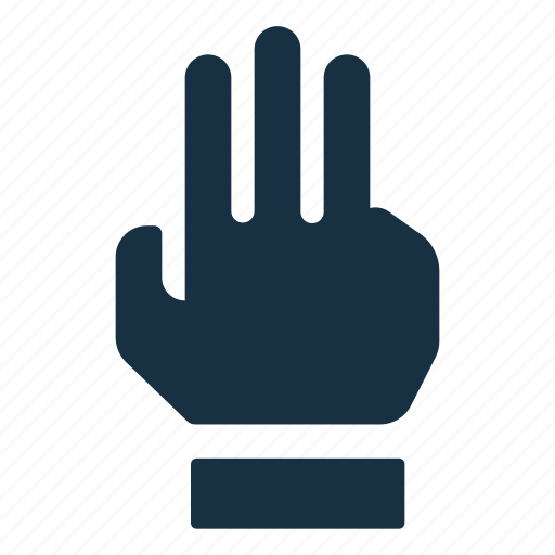 fingers, gesture, hand, interaction, interface, three, touch icon