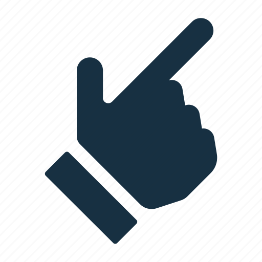 direction, finger, gesture, hand, pointer, pointing, thumb icon