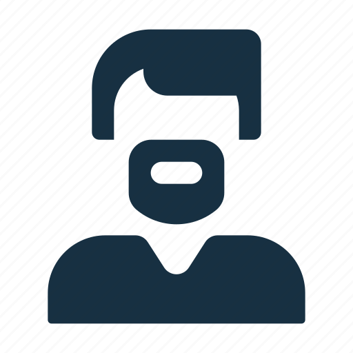 avatar, beard, male, man, person, profile, user icon