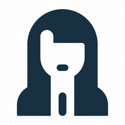 female, girl, person, profile, student, user, woman icon