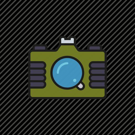 camera, camping, equipment, outdoors, trekking icon