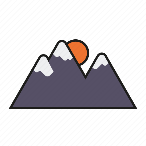 camping, mountains, nature, outdoors, sunset, trekking icon