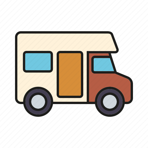 automobile, camper van, camping, equipment, motor vehicle, motorhome, outdoors icon