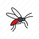 animal, camping, insect, mosquito, outdoors, trekking icon