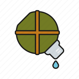 bottle, camping, canteen, equipment, outdoors, trekking, water icon