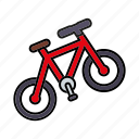 bicycle, camping, cycling, equipment, mountain bike, outdoors, trekking icon
