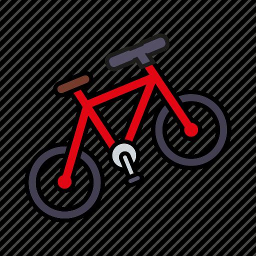 bicycle, camping, cycling, equipment, mountain bike, outdoors, trekking icon