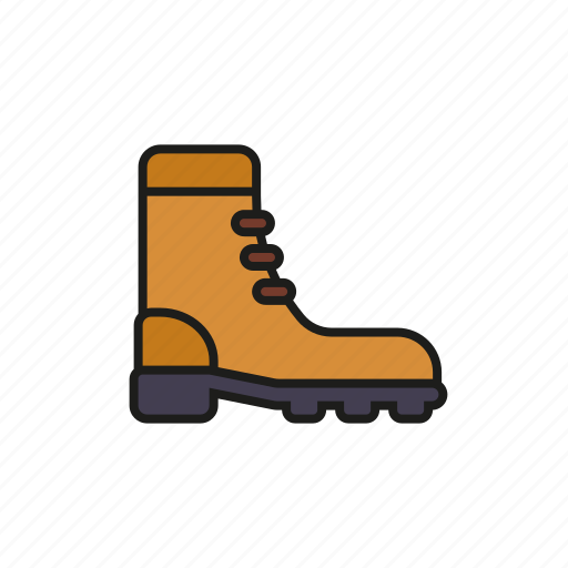 boot, camping, equipment, footwear, outdoors, shoe, trekking icon